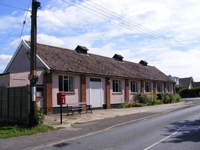 Grundisburgh Village Hall & Village Hall Postbox