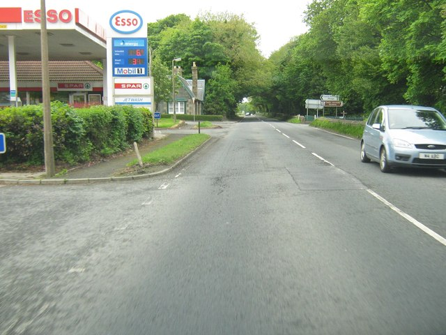 Esso garage and Spar shop