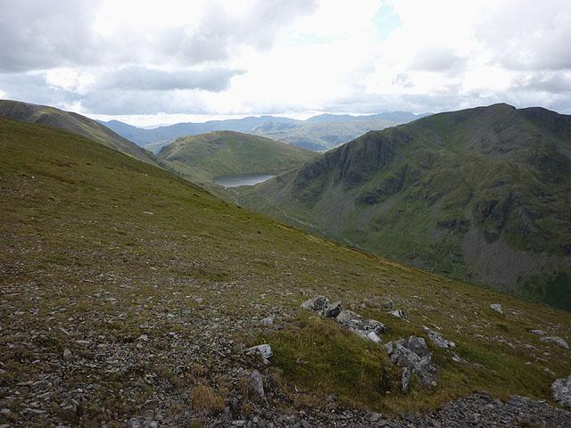 The summit slopes of St Sunday Crag