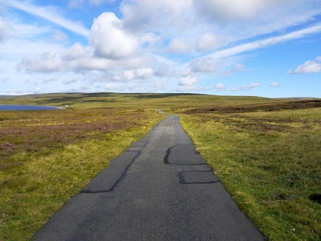 Road east of Cow Green Reservoir