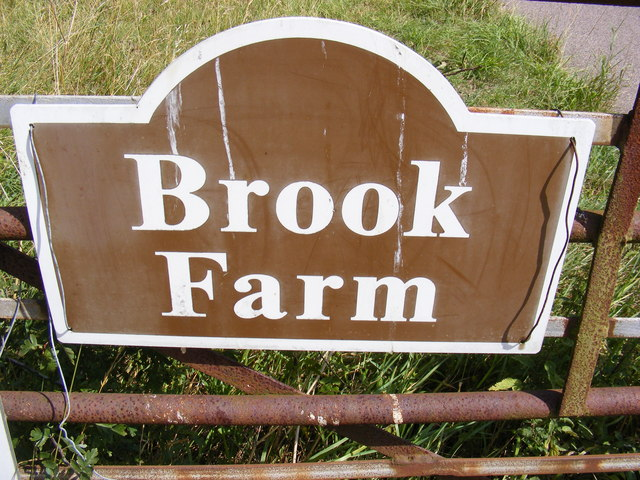 Brook Farm sign