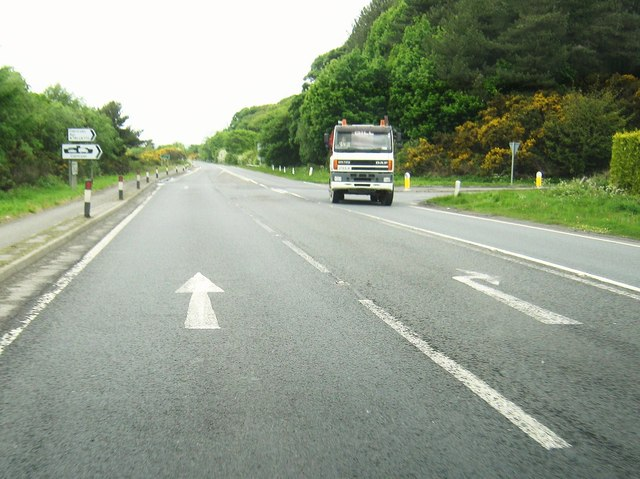 The junction of the A75 and the A751