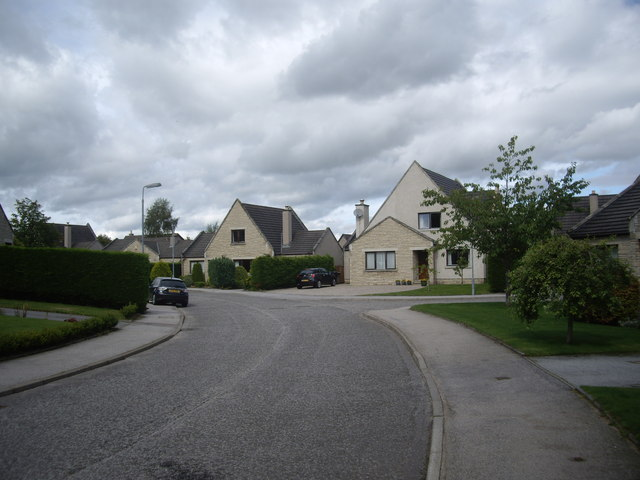A street junction, Annesley Grove, Torphins
