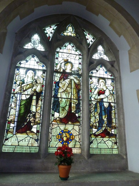 Holy Rood, Holybourne: stained glass window (i)