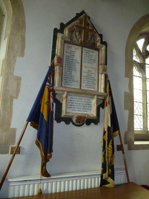 Holy Rood, Holybourne: war memorial