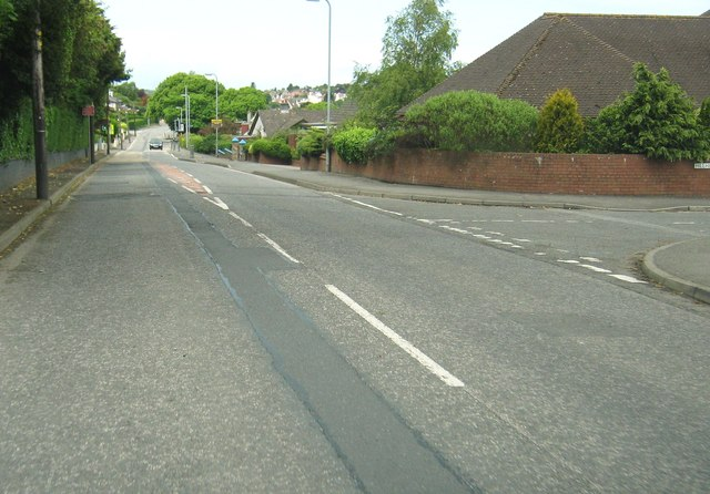 The junction of Leswalt High Road and Hillhead