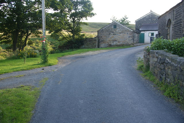 Coming up to Newgate Farm