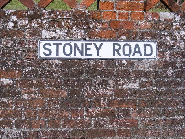 Stoney Road sign