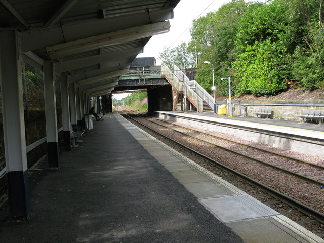 Blairhill railway station, looking WSW