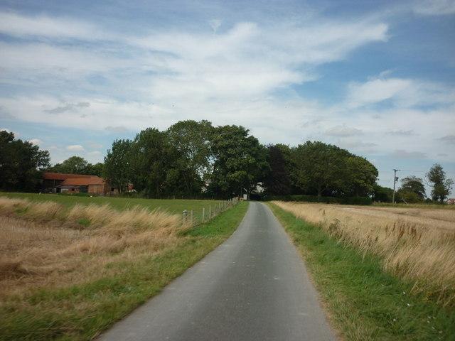 Out Gates (road) towards Outgate Farm