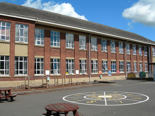 St. John's School from the upper playground