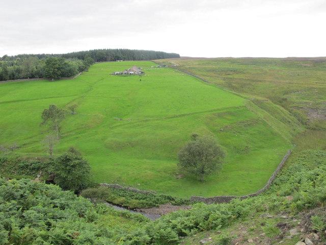The valley of Stanhope Burn around Hope House