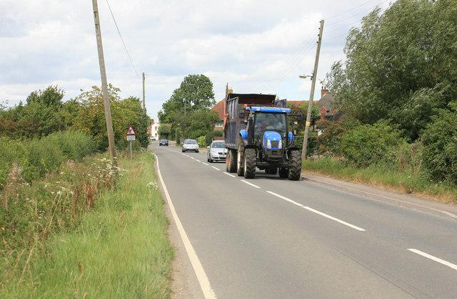 Tractor nr Eastington village