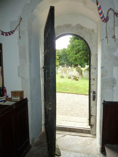 St Mary Mapledurwell: west door