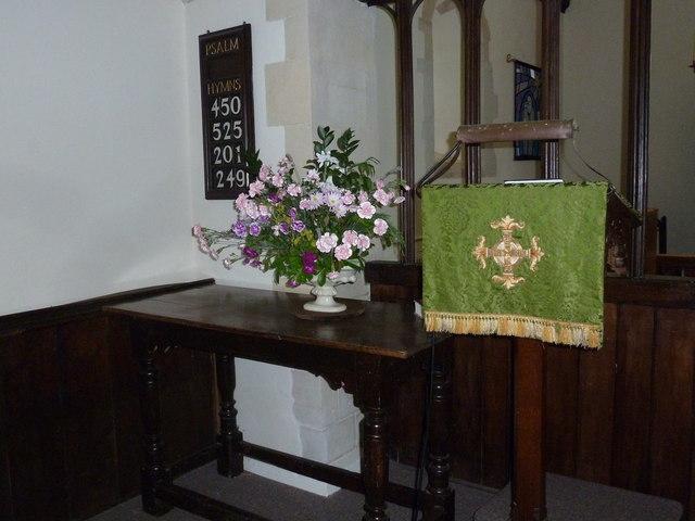 St Mary Mapledurwell: floral display