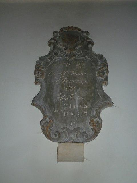 St Mary Mapledurwell: memorial