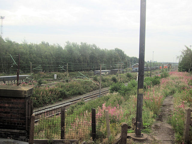 Basford Hall sidings from Shrewsbury line