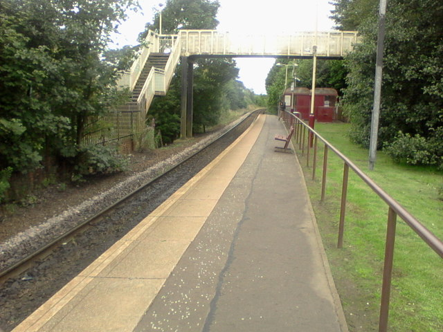 Mosspark railway station, looking WNW