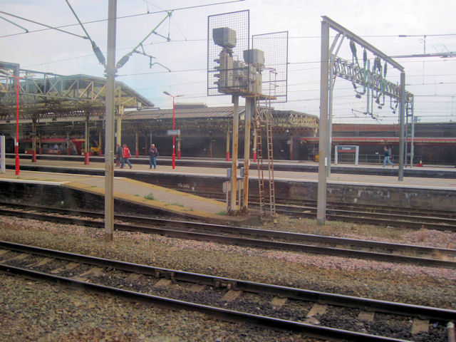 Entering Crewe station from the south