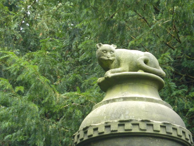 The Cat's Monument, a close-up