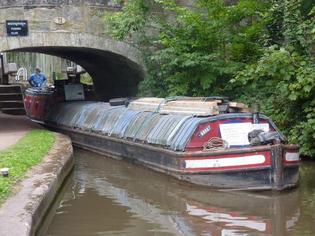 Working boat, bridge 73, Trent & Mersey Canal