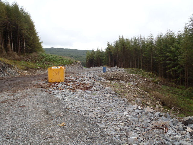 Terminal point of new forestry road