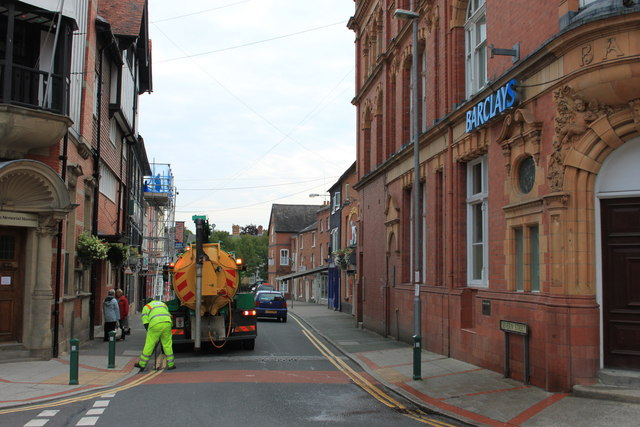 Drain cleaning in Severn Street, Newtown