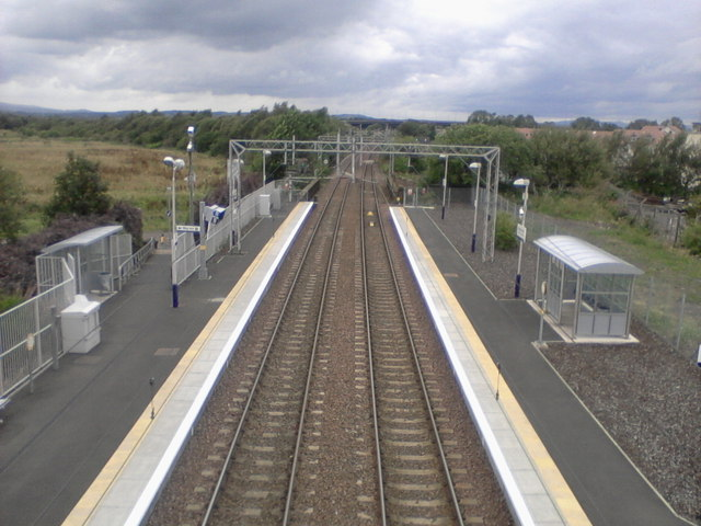 Paisley St. James railway station, looking North-West