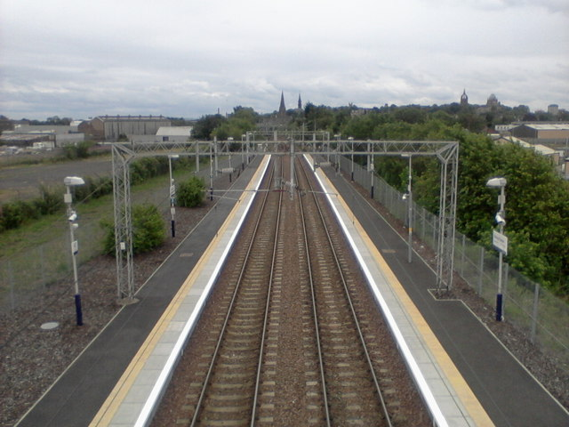 Paisley St. James railway station, looking South-East