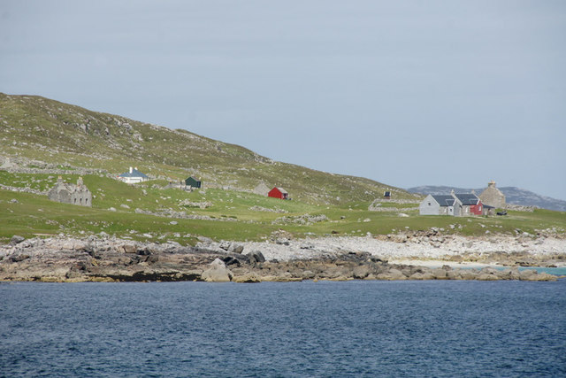 Houses on Scarp, from Huisinis