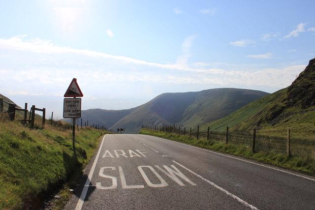 A470 climbs Ochr y Bwlch