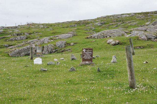 Unfenced graveyard at Huisinis