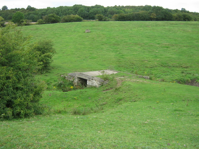 Farmers bridge over Shadford Beck carrying a public footpath