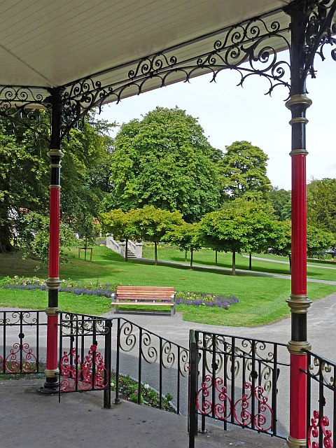 View of Bedwellty Park from the bandstand