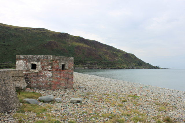 WW2 type 22 pillbox on Fairbourne seafront