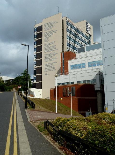 Surrey Lane towards Hallam University buildings