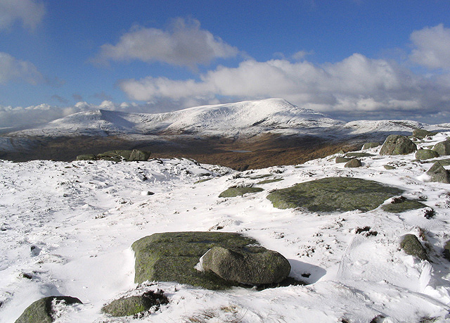 Winter conditions in the North Galloway Hills