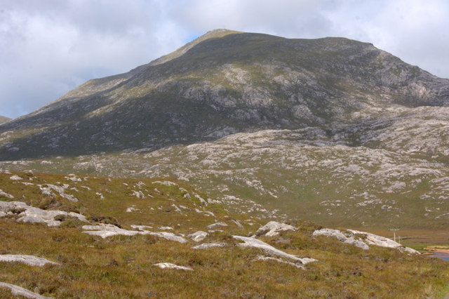 View to Torga Mor from beside Loch Leosaid