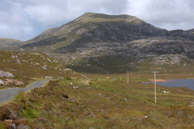 View to Tiorga Mor from beside Loch Leosaid