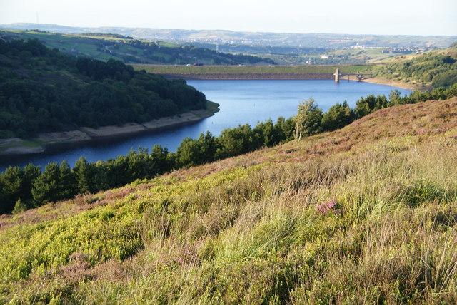 Hillside above Scammonden Reservoir