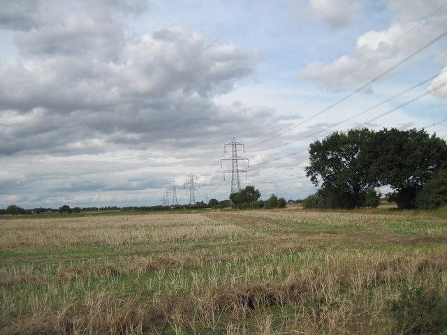 Pylons  running  North