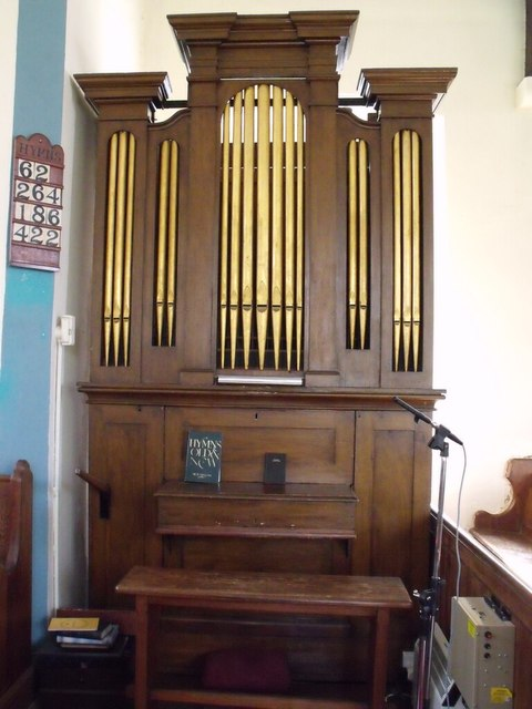 Organ in St Oswalds Church, Walcott
