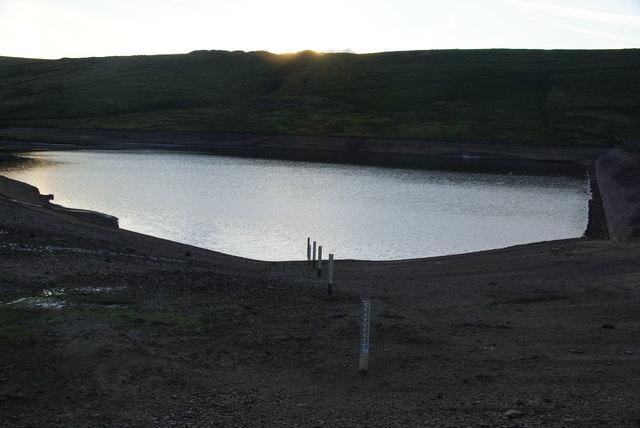 Sunset over Deanhead Reservoir