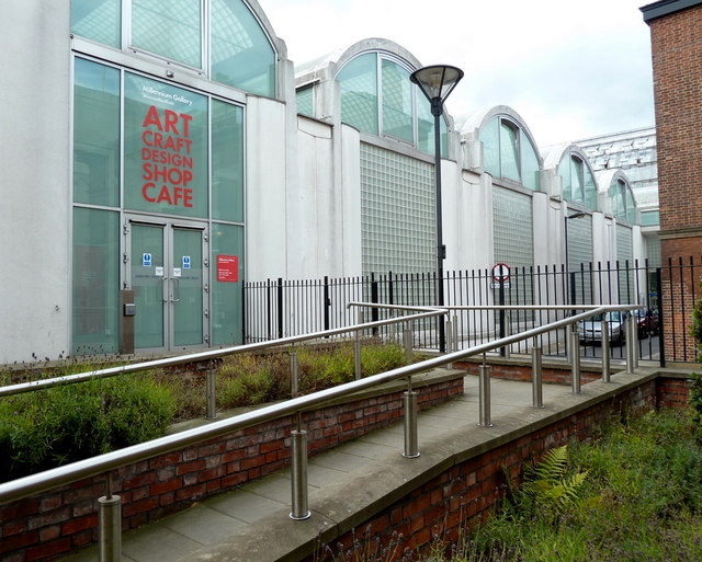 A side entrance to the Millennium Gallery