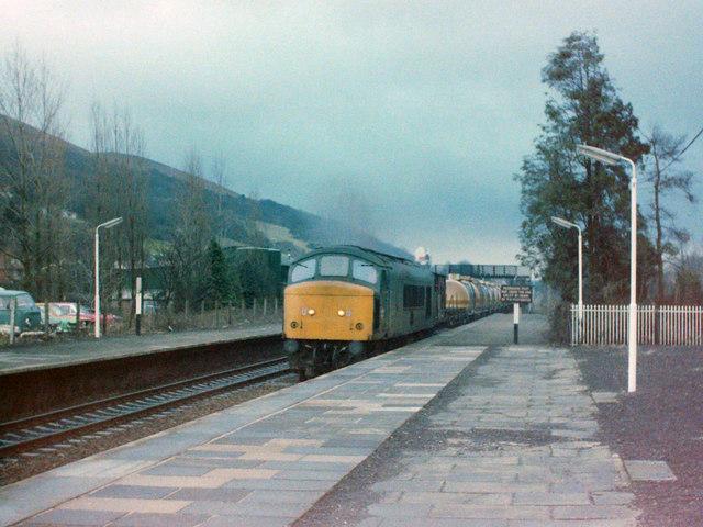 'Peak' Diesel at Church Stretton, 1980