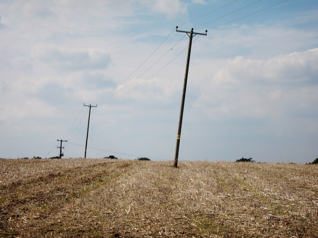 Pylons off Cold Harbour Road