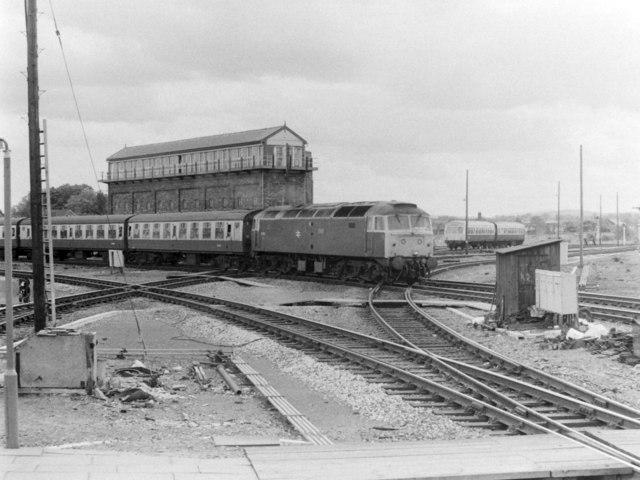 Class 47 Entering Shrewsbury, 1985