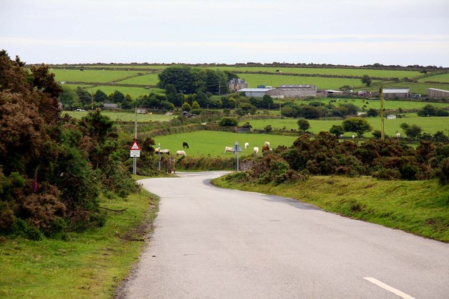 The road to St Neot over Redhill Downs