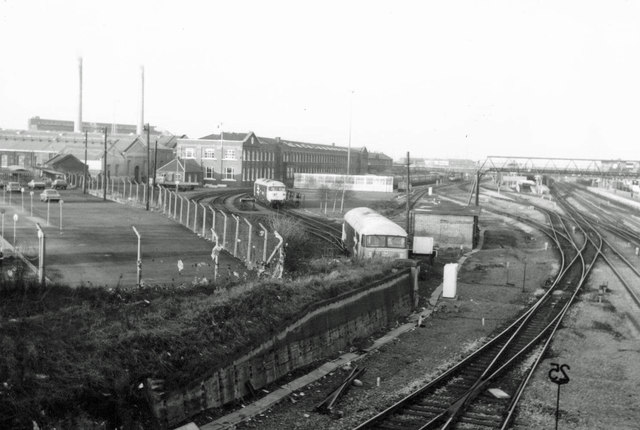 South End of Doncaster Railway Works, 1980