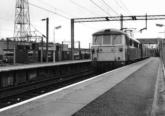 Football Special Train at Bescot, 1983